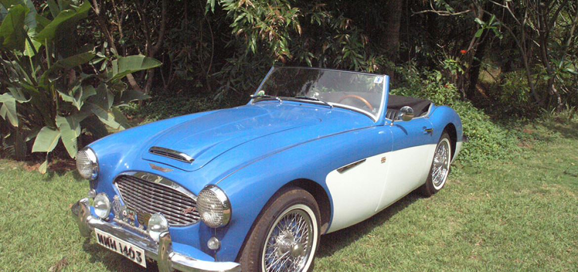 Maharaja of Gondal's 1958 Austin Healey 100/6